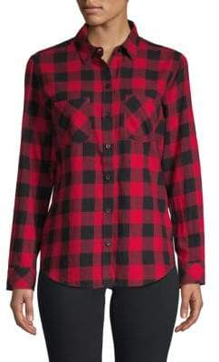 Plaid Long-Sleeve Button-Down Shirt