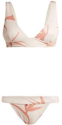 Haight - Low Rise Triangle Bikini - Womens - Ivory Multi
