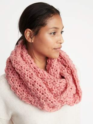 Old Navy Textured Basket-Weave Infinity Scarf for Women