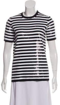 Michael Kors Sequin Short Sleeve Top