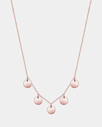 Necklace Pendants Circle Geo 925 Sterling Silver rose gold plated
