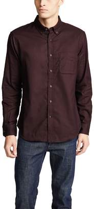 Club Monaco Flannel Solid Button-down