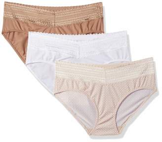 93bce38d2124 Warner's Warners Women's No Pinching No Problems with Lace Hipster 3 Pack  Panties