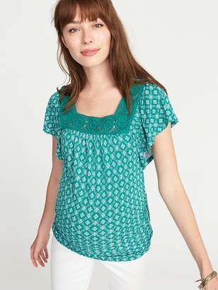 Old Navy Maternity Fitted Square-Neck Top