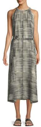 Eileen Fisher Daze-Print Silk Halter Dress