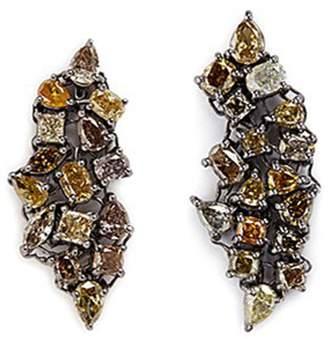 Monique Péan 'Atelier' diamond 18k gold earrings