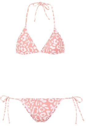 Reina Olga Exclusive to Mytheresa Love Triangle leopard-print bikini