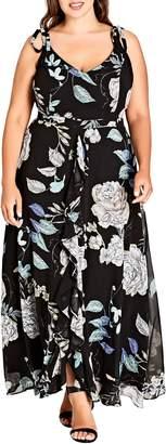 City Chic Flower Show Maxi Dress