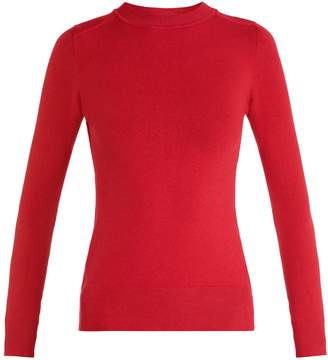 JOOSTRICOT Crew-neck long-sleeved cotton-blend knit sweater