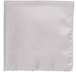 Barneys New York Men's Silk Pocket Square-Silver