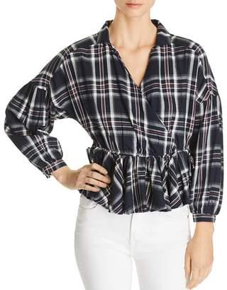 Vero Moda Ketch Plaid Cotton Top