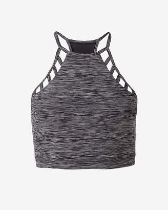Express Marled Exp Core Lace-Up Sports Bra