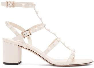 Valentino Rockstud block-heel leather sandals
