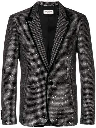 Saint Laurent sequin embroidered blazer