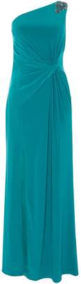 Adrianna Papell One shoulder gown with thigh split