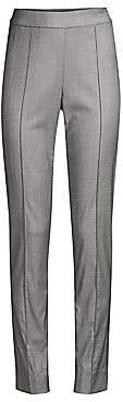 St. John Women's Shark Skin Stretch Wool Suiting Pants