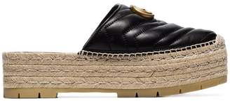 a0333ac5d7d Gucci black GG pilar 50 raffia and leather espadrilles