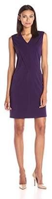 Lark & Ro Women's Draped Front Pocket Shift Dress