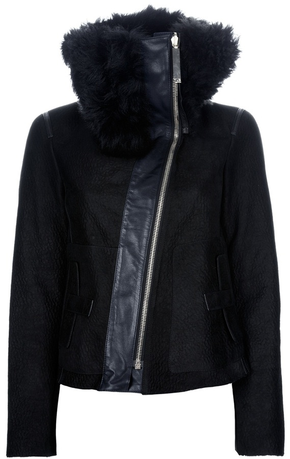 Mus faux fur collar jacket