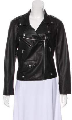 Rebecca Minkoff Leather Mesh Accented Jacket