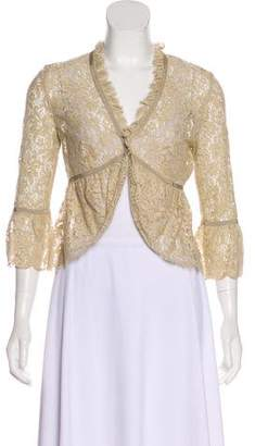 RED Valentino Lace Open Front Cardigan