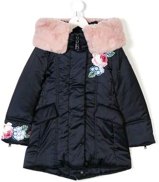 MonnaLisa fur collar padded coat