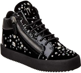 Giuseppe Zanotti Veronica Emebllished Velvet Sneaker