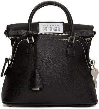 Maison Margiela Black Grained Leather Bag $1,985 thestylecure.com