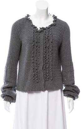 Philosophy di Alberta Ferretti Crocheted Virgin Wool Cardigan