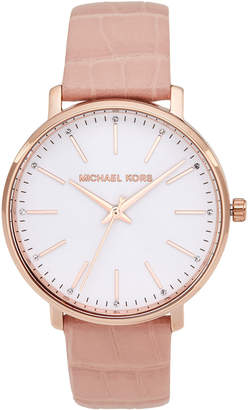 Michael Kors 2775 Rose Gold-Tone Watch & Interchangeable Strap Set