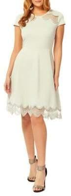Dex Fit Flare Cap-Sleeve Dress