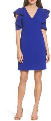 Chelsea28 Ruffle Cold Shoulder Dress