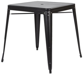 Office Star OSP Designs by Products Bristow Metal Dining Table with Umbrella Hole