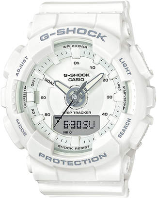 G-Shock Women's Analog-Digital White Strap Step Tracker Watch 50mm