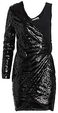 Each X Other Women's One-Shoulder Sequin Mini Dress