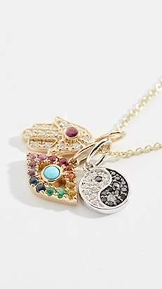 Sydney Evan 14k Multi Charm Necklace