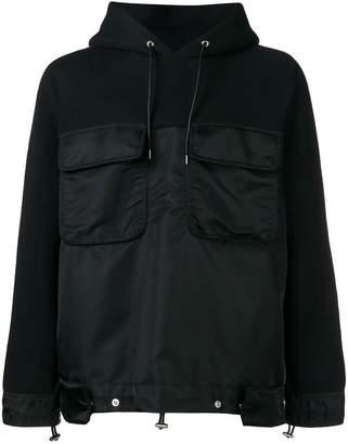 Sacai flap pocket hoodie