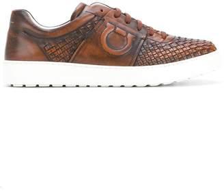 Salvatore Ferragamo woven Gancio sneakers