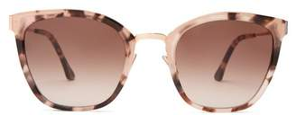 Cat Eye John Dalia - Sophie Acetate And Rose Gold Sunglasses - Womens - Tortoiseshell