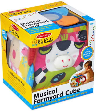 Melissa & Doug Kids' Musical Farmyard Cube Toy