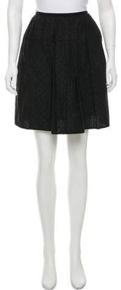 Marc Jacobs Perforated Knee-Length Skirt