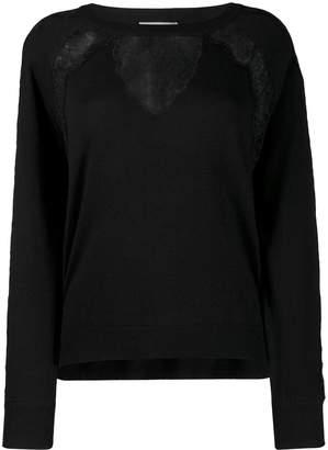 Twin-Set lace panel jumper