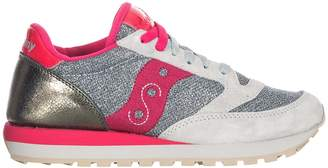 Saucony Jazz Sparkle Silver/red Sneakers