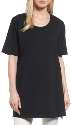 Women's Eileen Fisher Stretch Organic Cotton Jersey Tunic $118 thestylecure.com