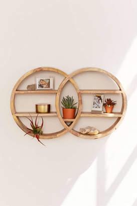 Dahlila Double Round Wall Shelf