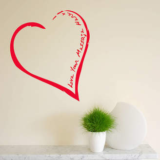 The Bright Blue Pig Your Heart On The Wall Sticker
