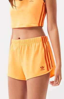adidas Orange 3-Stripes Shorts