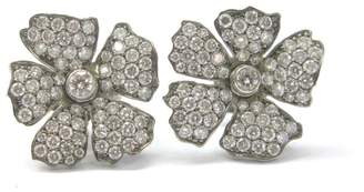 Vera Wang Titanium Diamond Flower Earrings