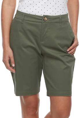 Croft & Barrow Petite Twill Bermuda Shorts