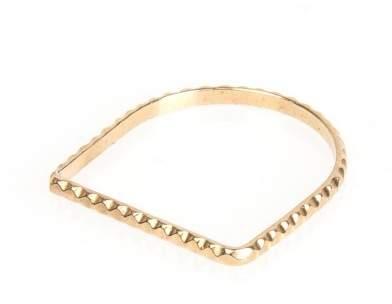 Styleserver DE By Boe Straight Scalloped Band Ring vergoldet 53